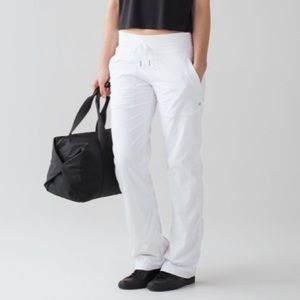 Lululemon Dance Studio Pant *LINED White 6